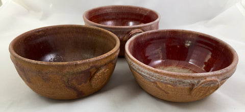 Merritt Island Pottery Ceramic Bowls by Melvin Casper Master Potter 1916-2002 set of 3