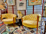 Chair, pair of vintage upholstered chairs