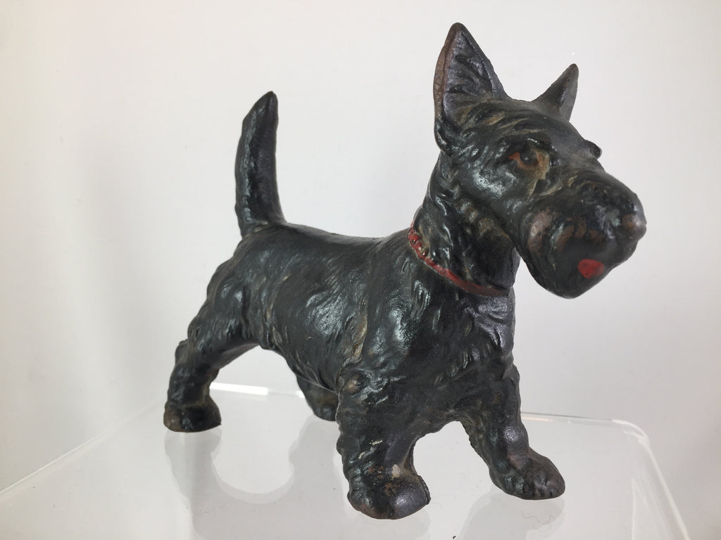 Cast iron Scotty Dog with Red Collar