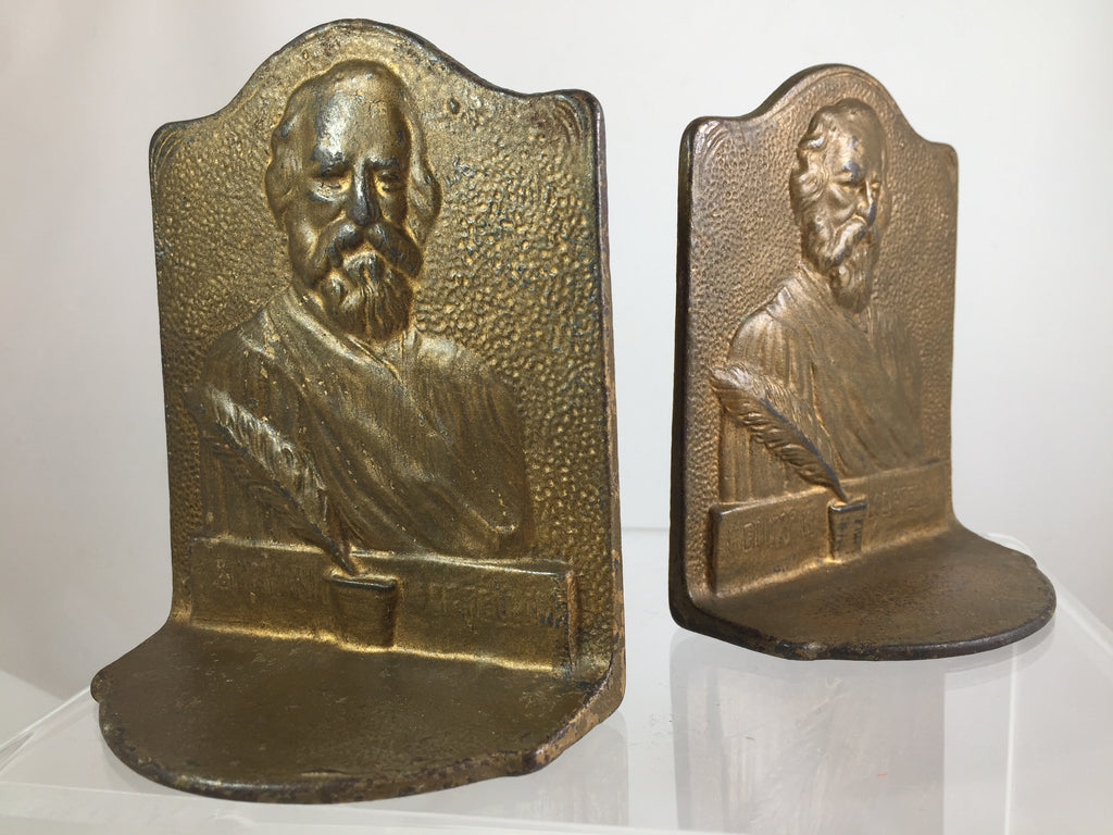 Cast Iron Longfellow Bookends set of 2