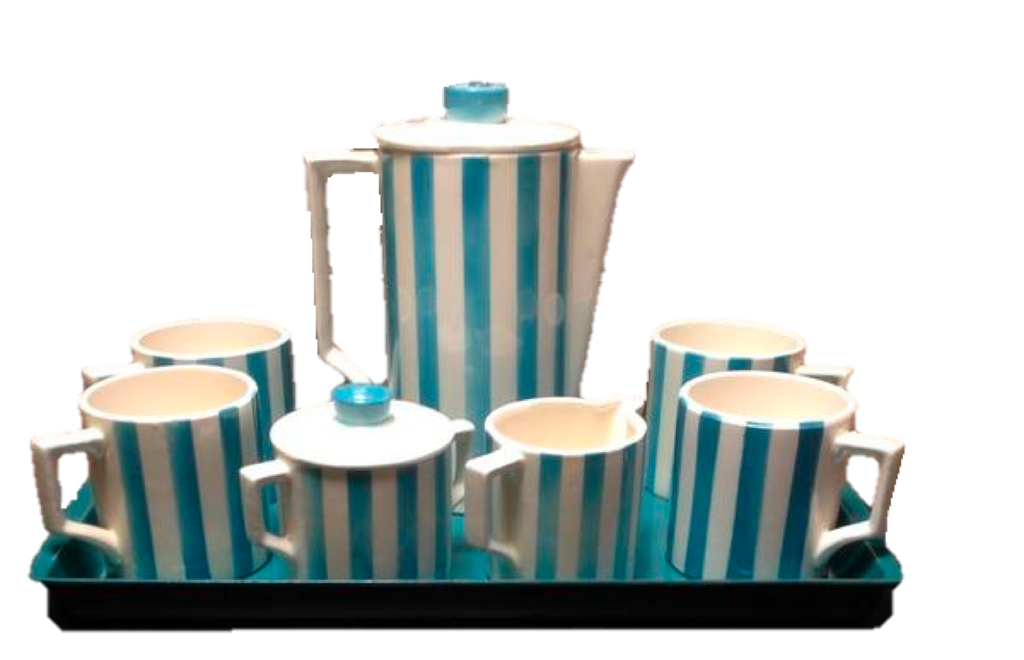 Mid-Century Modern Coffee Set with Tray-SOLD