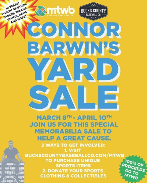 CONNOR BARWIN'S YARD SALE FOR MTWB