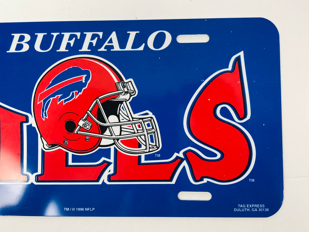 BUFFALO BILLS VINTAGE 1990'S NFL GAMEDAY PLASTIC LICENSE PLATE