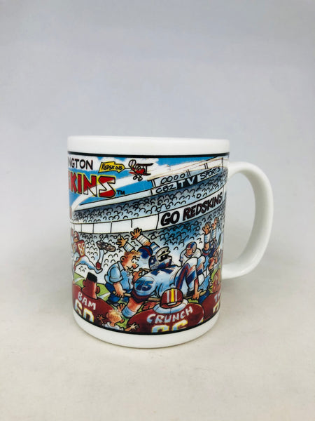 WASHINGTON REDSKINS VINTAGE 1990'S TEAM NLF CERAMIC COFFEE MUG