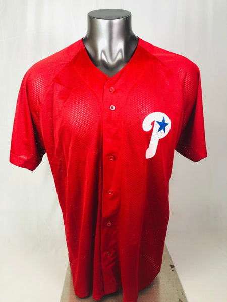 PHILADELPHIA PHILLIES VINTAGE 1990'S RUSSELL ATHLETIC MESH JERSEY ADULT XL