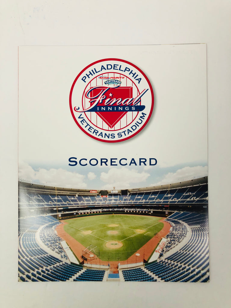 PHILADELPHIA PHILLIES VINTAGE 2003 LAST GAME AT VETERANS STADIUM PROGRAM SET
