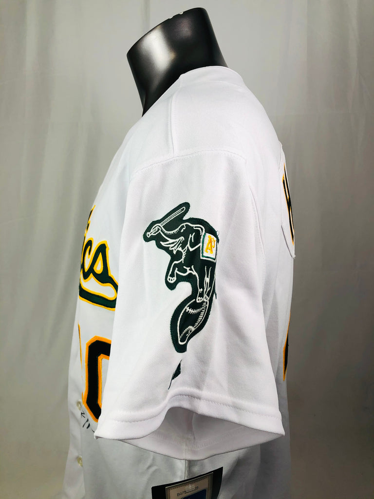 RICH HARDEN OAKLAND ATHLETICS VINTAGE 2000'S TEAM ISSUED SIGNED AUTHENTIC MAJESTIC JERSEY ADULT 48