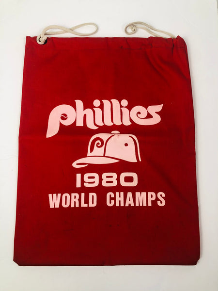 PHILADELPHIA PHILLIES VINTAGE 1980 WORLD SERIES CHAMPIONS DRAWSTRING BAG
