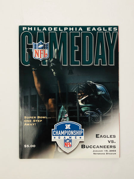 PHILADELPHIA EAGLES VINTAGE 2003 FINAL GAME AT VETERANS STADIUM GAMEDAY PROGRAM