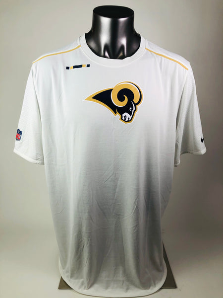 CONNOR BARWIN LOS ANGELES RAMS TEAM ISSUED DRI-FIT NIKE T-SHIRT ADULT 2XL