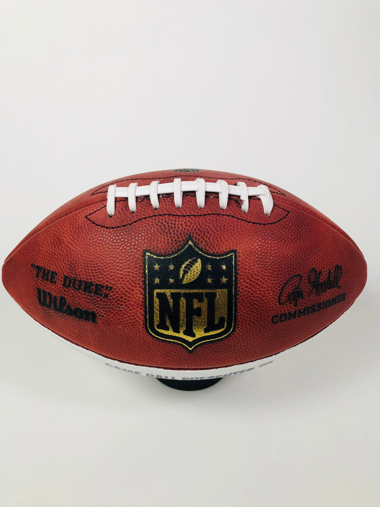 CONNOR BARWIN LOS ANGELES RAMS TEAM ISSUED 2017 PLAYER GAME BALL