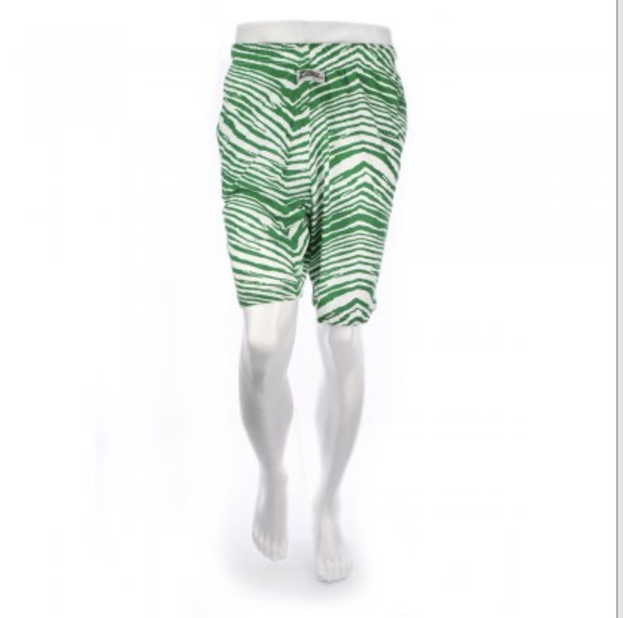 KELLY GREEN RETRO 1990'S ZUBAZ SHORTS