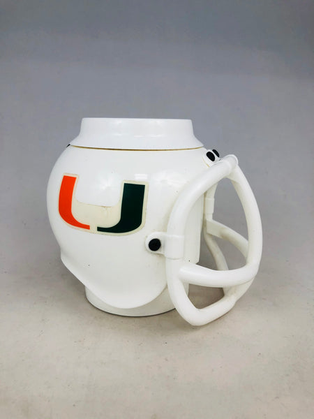 UNIVERSITY OF MIAMI HURRICANES VINTAGE 1992  HELMET COFFEE MUG