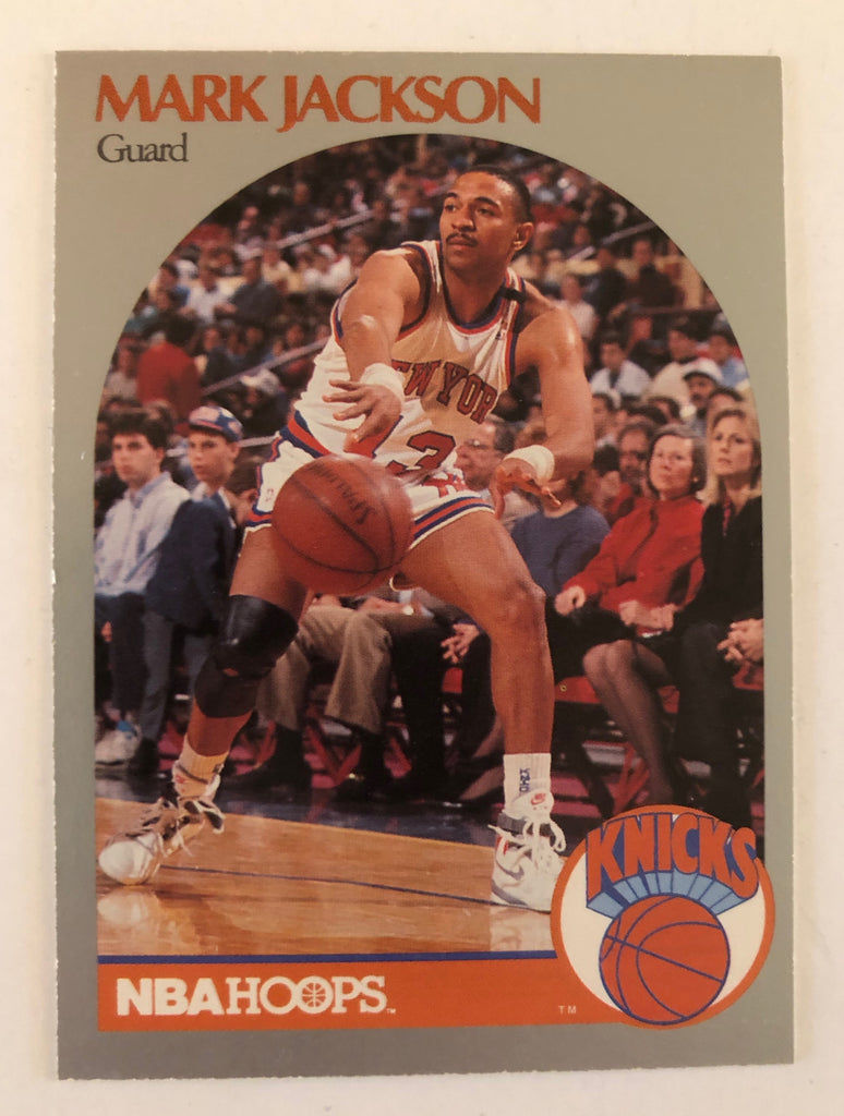 MARK JACKSON NEW YORK KNICKS 1990-91 HOOPS LYLE & ERIK MENENDEZ CARD