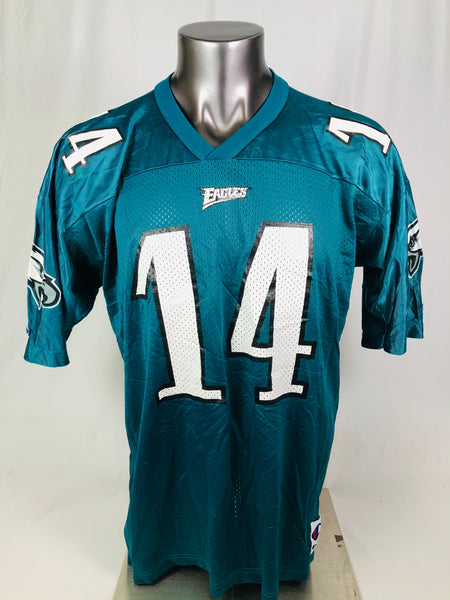 TY DETMER PHILADELPHIA EAGLES VINTAGE 1990'S CHAMPION JERSEY ADULT 48