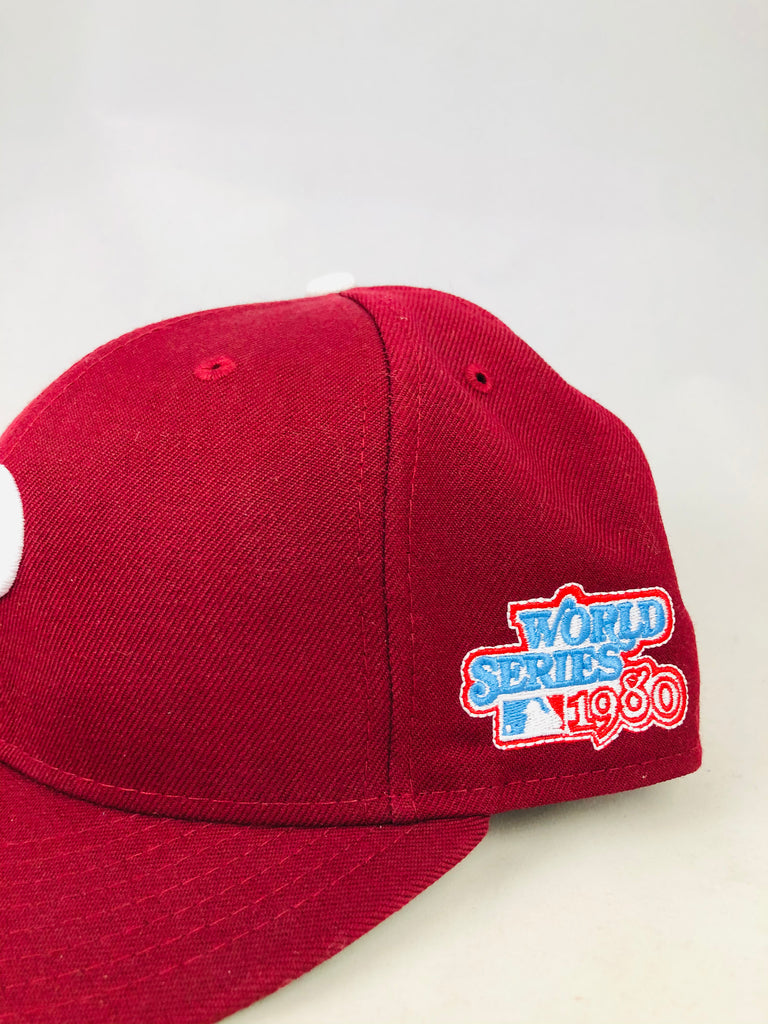 PHILADELPHIA PHILLIES RETRO 1980 WORLD SERIES NEW ERA FITTED ADULT HAT 7 1/2