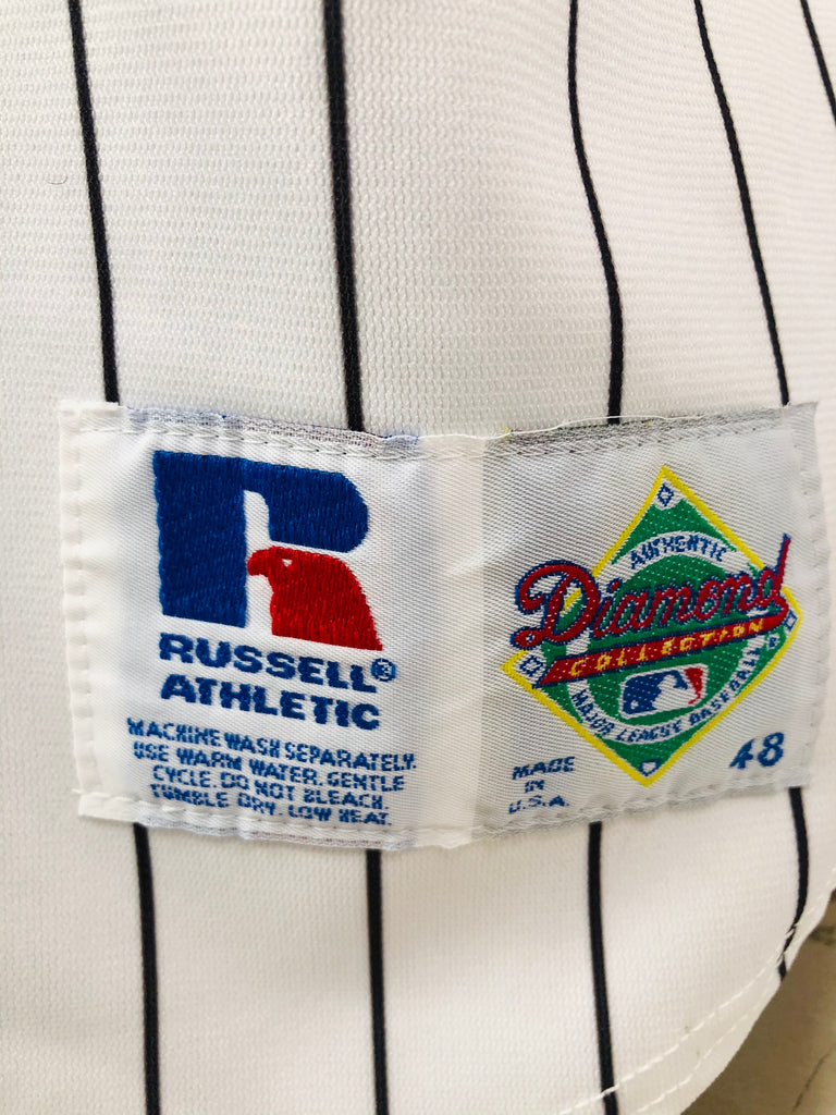CHICAGO WHITE SOX VINTAGE 1990'S RUSSELL ATHLETIC DIAMOND COLLECTION JERSEY ADULT 48