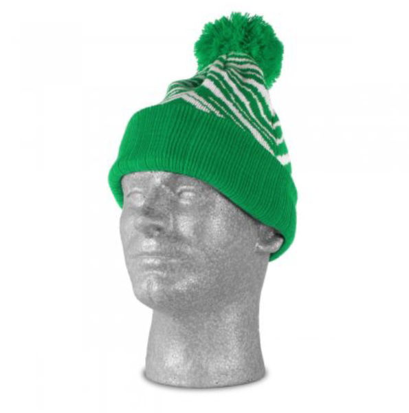 PHILADELPHIA KELLY GREEN RETRO 1990'S ZUBAZ WINTER HAT