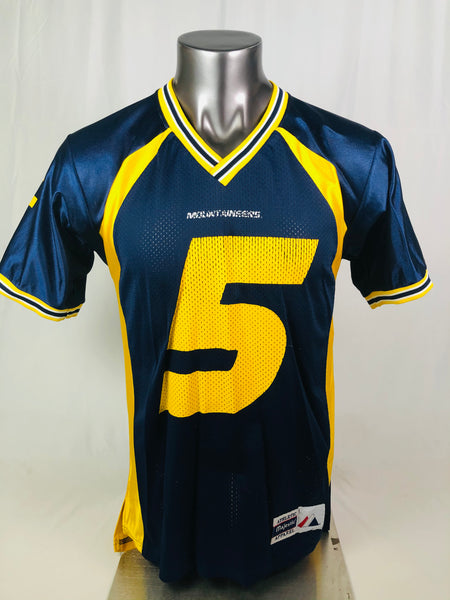 WEST VIRGINIA UNIVERSITY MOUNTAINEERS VINTAGE 1990'S MAJESTIC #5 JERSEY ADULT  MEDIUM