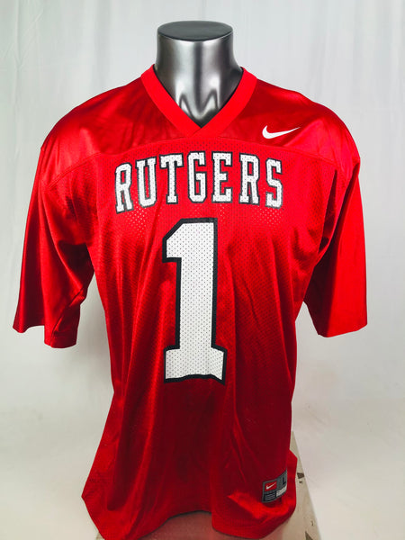 RUTGERS UNIVERSITY  VINTAGE 1990'S TEAM NIKE #1 JERSEY ADULT LARGE