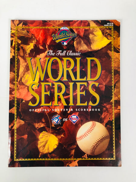 PHILADELPHIA PHILLIES VINTAGE 1993 WORLD SERIES PROGRAM