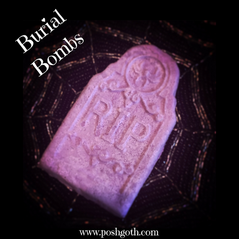 Posh Goth Burial Bombs All Natural Gothic Bath Bombs