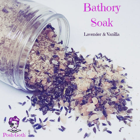 Posh Goth Bathory Soak Lavender & Vanilla 8 oz Gothic Bath Tea