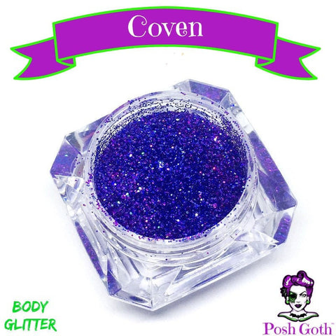 COVEN Glam Goth™ Chunky Purple Body Glitter by Posh Goth