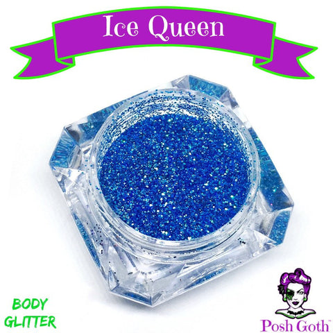 ICE QUEEN Glam Goth™ Chunky Blue Body Glitter by Posh Goth