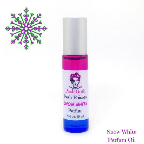 Snow White Gothic Rose Eucalyptus Frankincense Fairy Tale Perfume 10 mL roller ball