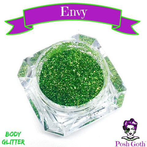 ENVY Glam Goth™ Chunky Green Body Glitter by Posh Goth