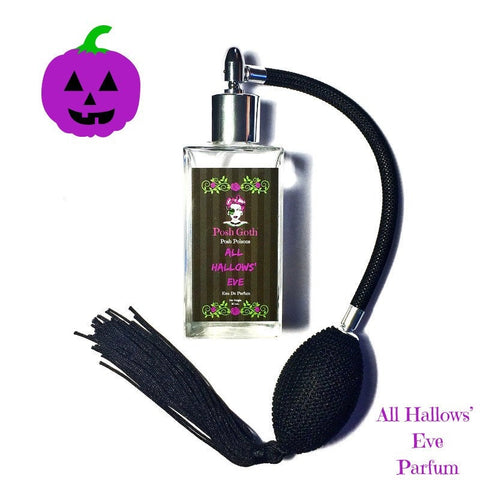 All Hallows' Eve Pumpkin Scented Gothic Perfume 50 mL with bulb atomizer