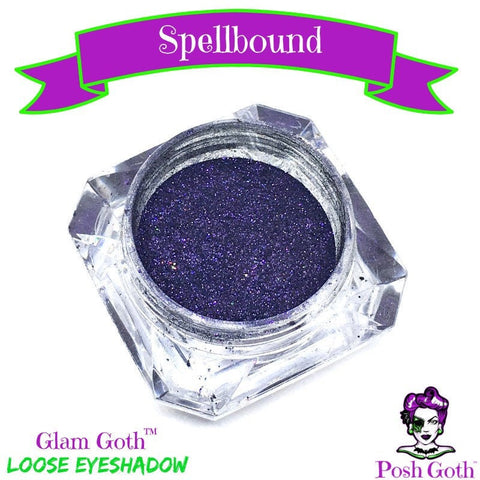 SPELLBOUND Glam Goth™ metallic purple loose eyeshadow by Posh Goth
