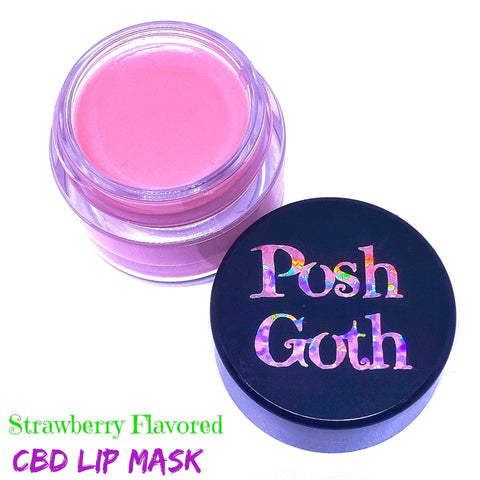 Strawberry CBD Embalming Lip Mask by Posh Goth
