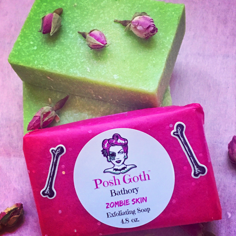 Zombie Skin Handmade Exfoliating Soap - Jasmine Lime Scented - All Natural