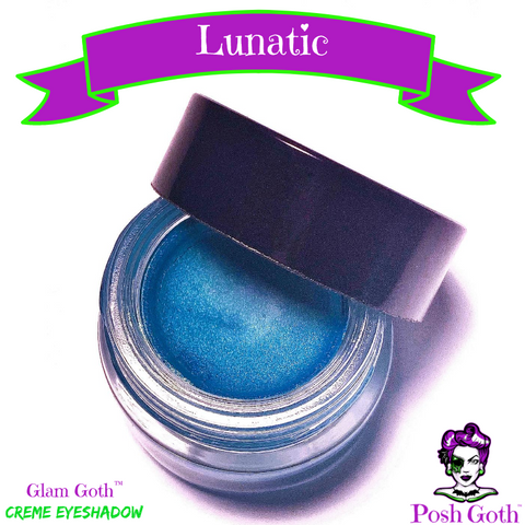 LUNATIC Glam Goth™ Vibrant Teal Blue Creme Eyeshadow