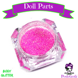DOLL PARTS Glam Goth™ Chunky Pink Body Glitter by Posh Goth