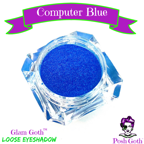 COMPUTER BLUE Glam Goth™ Metallic Blue eyeshadow by Posh Goth