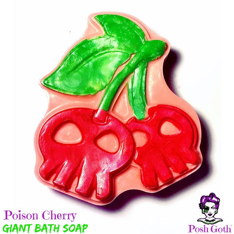POISON CHERRY Hemp and Shea Soap - Sweet Cherry Scent