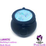 LUNATIC Fruity and Floral Scented Bubbling Cauldron Bath Bomb by Posh Goth