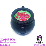 ZOMBIE SKIN Jasmine & Lime Bubbling Cauldron Bath Bomb by Posh Goth