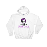 Posh Goth Hooded Sweatshirt (White or Black)
