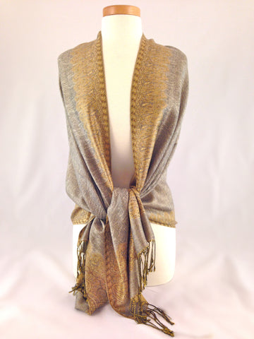 gold neutral pashmina