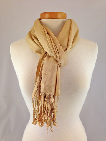cream beige gold pashmina
