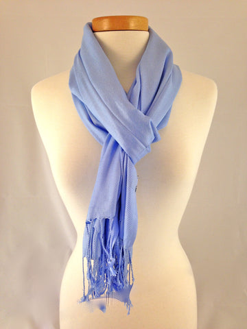 light sky blue pashmina
