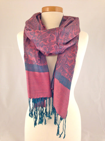 violet blue red pashmina