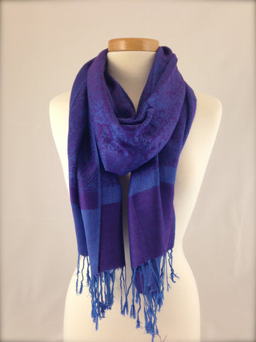 royal purple blue pashmina