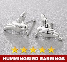 Silver Hummingbird Earrings - Great Gift Idea