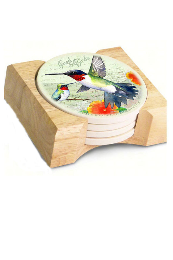 Hummingbird Postcard Drink Coasters (Set of 4) - We Love Hummingbirds