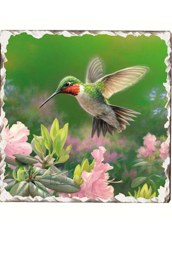 "Hummingbird 4"" Single Drink Coaster - We Love Hummingbirds"